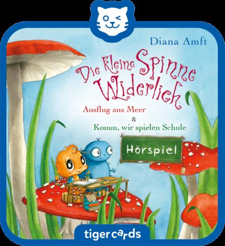 Coverbild - tigercard - Die kleine Spinne Widerlich: Ausflug ans Meer & Komm, wir spielen Schule
