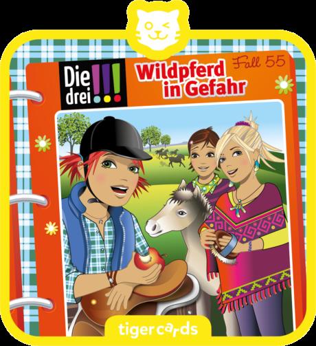 Coverbild - tigercard - Die drei !!! (55): Wildpferd in Gefahr