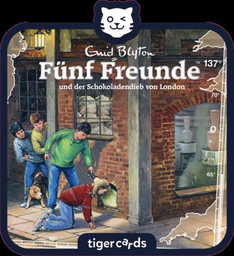 Coverbild - tigercard - Fünf Freunde: Und der Schokoladendieb von London