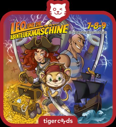 Coverbild - tigercard - Leo und die Abenteuermaschine: Die Schnitzeljagd-Trilogie