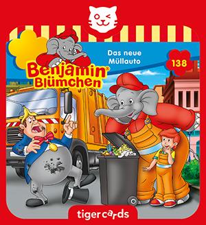 In Hörspiel-Folge 138 wird Benjamin Blümchen zum Müllmann und darf sogar das neue Müllauto fahren.
