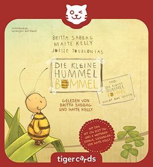 Erlebe gleich zwei wunderschöne Geschichten von Die kleine Hummel Bommel auf dieser tigercard!
