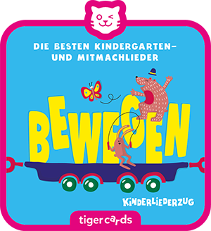 Der Kinderliederzug 2 ist gefüllt mit den besten Kindergarten- und Mitmachliedern zum Bewegen.