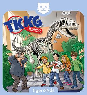 Hör auf dieser tigercard wie TKKG Junior in Folge 5 die Dino-Diebe mit einem riskanten Plan fassen.