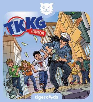Bei Anruf Abzocke heißt das spannende Abenteuer von TKKG Junior auf dieser tigercard.