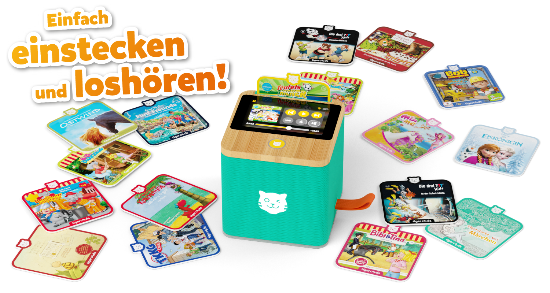 Mit den tigercards hast du alle deine Lieblingsgeschichten zum Anfassen und kannst sie kinderleicht abspielen.