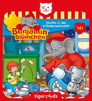 Nachts in der Erfinderwerkstatt erlebt Benjamin Bluemchen in Folge 141 eine turbulente Nacht.