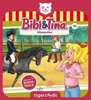 Bibi und Tina helfen in Folge 92, Mission Alex, ihrem guten Freund bei einem Dressurturnier.