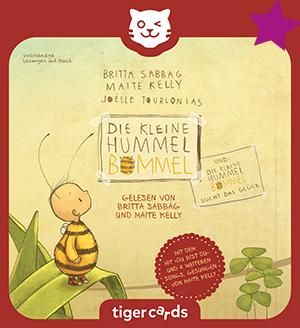 Erlebe gleich zwei wunderschoene Geschichten von Die kleine Hummel Bommel auf dieser tigercard!