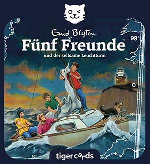 Fuenf Freunde und der seltsame Leuchtturm gibt es jetzt als Folge 99 auch als tigercard.