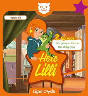 Zwei Geschichten mit Hexe Lilli auf einer tigercard: Das geheime Zimmer und Das Wildpferd.