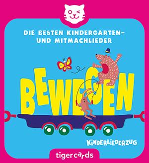 Der Kinderliederzug 2 ist gefuellt mit den besten Kindergarten- und Mitmachliedern zum Bewegen.