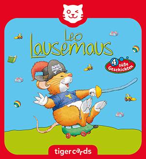 Erlebe mit Leo, der kleinen Lausemaus, vier sueße Abenteuer auf dieser tigercard mit Folge 10.
