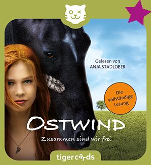 Die neue tigercard zum Kinofilm Ostwind, Zusammen sind wir frei, also Lesung jetzt bei tigermedia.