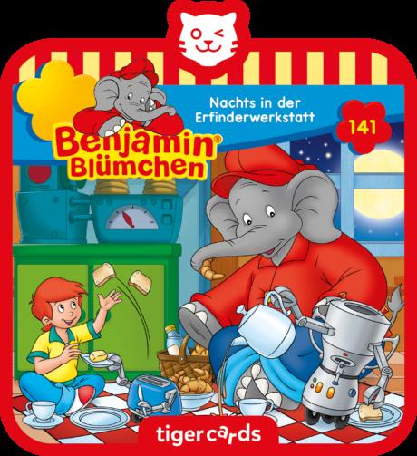 Coverbild - tigercard - Benjamin Blümchen: Nachts in der Erfinderwerkstatt