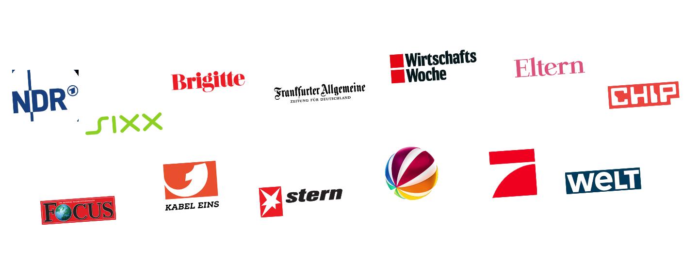 tigerbox - Bekant aus: NDR, sixx, Brigitte, Frankfurter Allgemeine, Wirtschaftswoche, Eltern, Chip, Focus, Kabel Eins, stern, Sat1, Pro 7, Welt