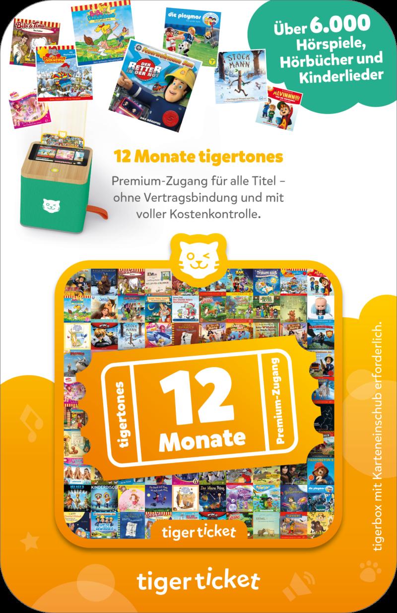 Das tigerticket jetzt neu mit einem tigertones-Premiumzugang für 12 Monate